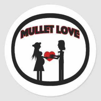 Mullet Love Classic Round Sticker