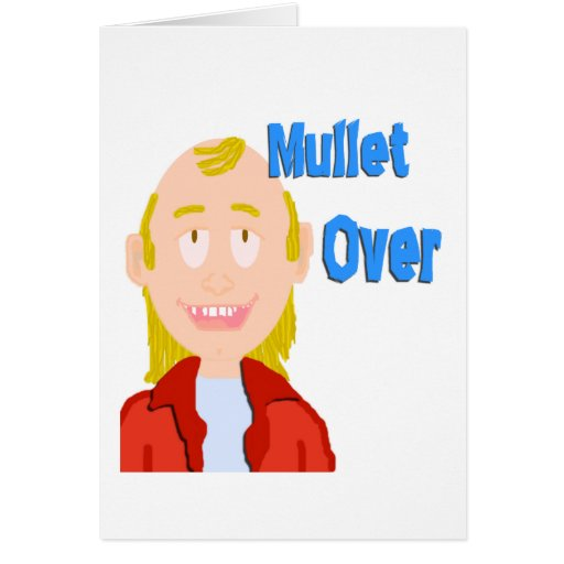 Mullet Over Blank Card