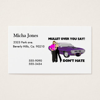 Mullet Over Think Again Business Card