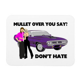 Mullet Over Think Again Magnet