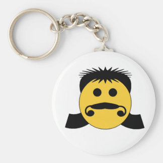 Mullet Smiley Keychains