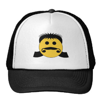 Mullet Smiley Trucker Hat