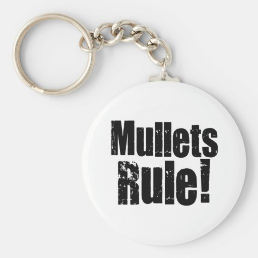 Mullets Rule Basic Round Button Keychain