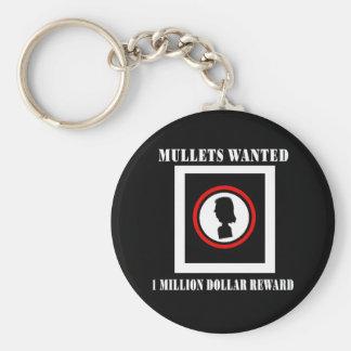 Mullets Wanted 1 Million Dollar Reward Keychain