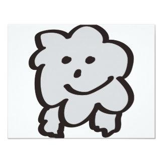 """mullido las ovejas invitación 4.25"""" x 5.5"""""""