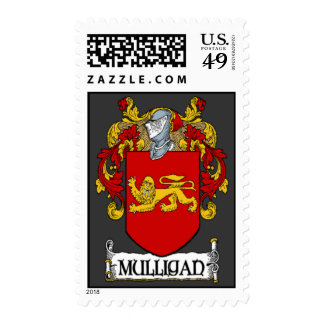 Mulligan Coat of Arms Postage Stamps