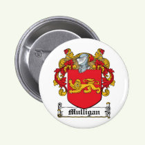Mulligan Family Crest Button