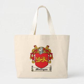 Mulligan Family Crest Large Tote Bag