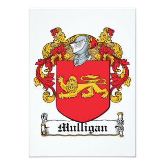 Mulligan Family Crest Personalized Announcement