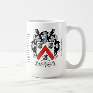 Mulligan, the Origin, the Meaning and the Crest Coffee Mug