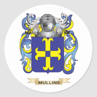 Mullins Coat of Arms (Family Crest) Round Sticker