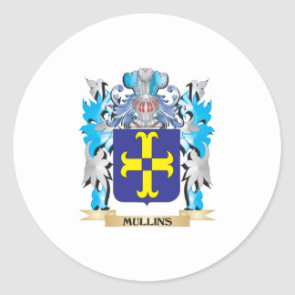 Mullins Coat of Arms - Family Crest Round Stickers