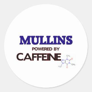 Mullins powered by caffeine round sticker