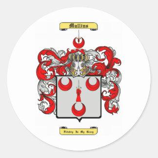 mullins round sticker
