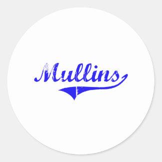Mullins Surname Classic Style Round Sticker