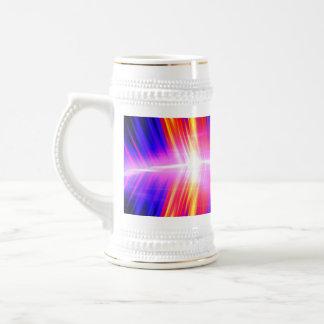 Mullticolored Abstract Audio Waveform Beer Stein