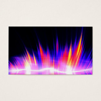Mullticolored Abstract Audio Waveform Business Card
