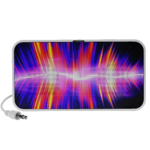 Mullticolored Abstract Audio Waveform Mp3 Speaker