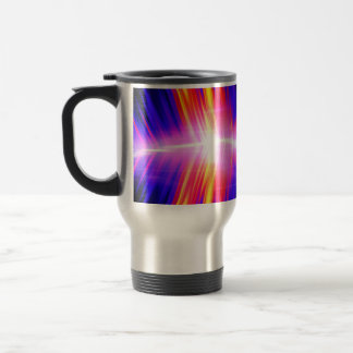Mullticolored Abstract Audio Waveform 15 Oz Stainless Steel Travel Mug