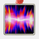 Mullticolored Abstract Audio Waveform Christmas Ornaments