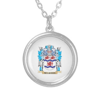 Mulqueen Coat of Arms - Family Crest Silver Plated Necklace