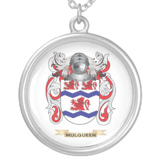 Mulqueen Coat of Arms (Family Crest) Silver Plated Necklace