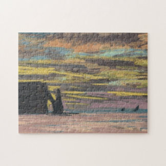 Multa d'Aval de Monet de la puesta del sol de Rompecabeza Con Fotos