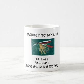 """Multa de la trucha - taza de la lista de la mosca"