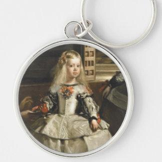Multa de Margarita de la infanta de Velázquez Las Llavero Redondo Plateado