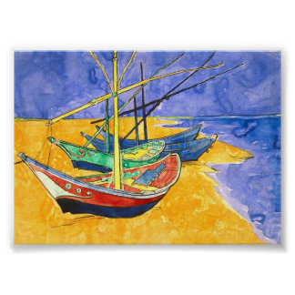 Multa de Saintes-Maries Van Gogh de la playa de Póster