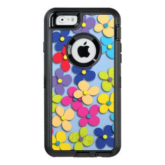 Multa Trippy de la paz del Hippie del niño de flor Funda OtterBox Defender Para iPhone 6