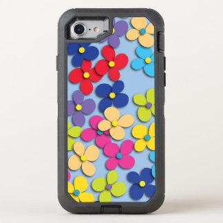 Multa Trippy de la paz del Hippie del niño de flor Funda OtterBox Defender Para iPhone 7