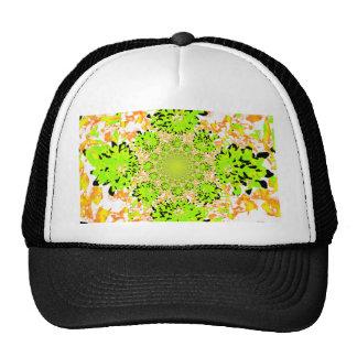 Multi abstracto de la dalia coloreada gorras