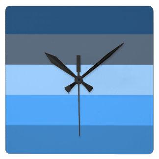 Multi-Azul Reloj Cuadrado