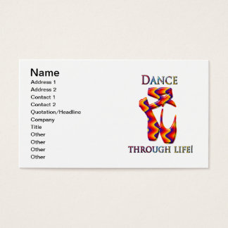 Multi ballet slippers business card