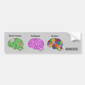Multi-Brain Bumper Sticker