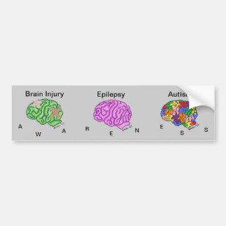 Multi-Brain Bumper Sticker Car Bumper Sticker