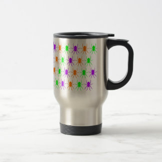 Multi bright spiders pattern travel mug
