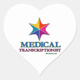 Multi C Medical Transcriptionist Heart Sticker