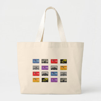 Multi Cassette Tapes Retro Music Pattern Tote Bags