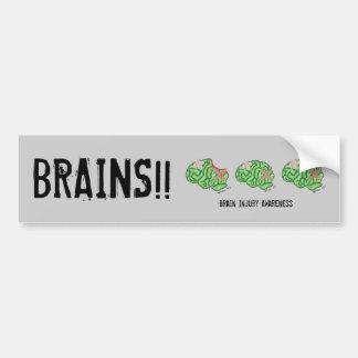 Multi-Cerebro - conciencia x3 de la lesión cerebra Pegatina Para Auto
