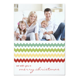 Multi Chevron Chic Family Holiday Flat Card