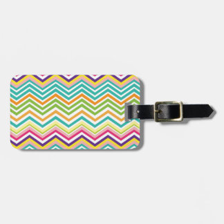 Multi Chevron Luggage Tags