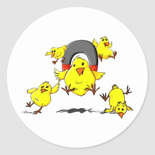 Multi_Chick_magnet_Lt Pegatina Redonda
