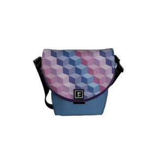 Multi Color 3D Cube Pattern Mini Messenger Bag