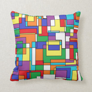Multi-color Abstract Throw Pillow