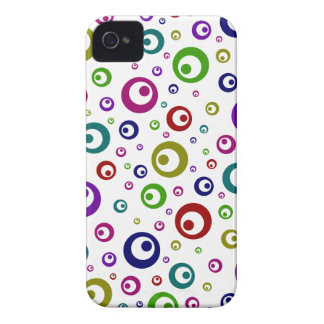 Multi-Color Abstract Polka Dots Case-Mate iPhone 4 Case