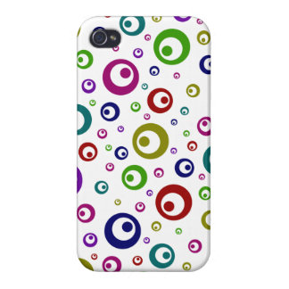 Multi-Color Abstract Polka Dots Covers For iPhone 4