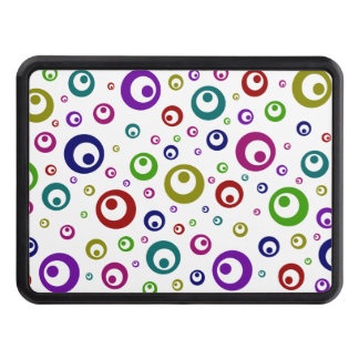 Multi-Color Abstract Polka Dots Hitch Cover