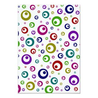 Multi-Color Abstract Polka Dots 3.5x5 Paper Invitation Card
